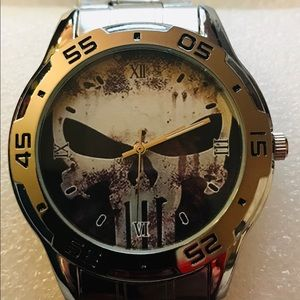 """Other - New Marvel""""s The Punisher"""" Stainless Steel Watch"""